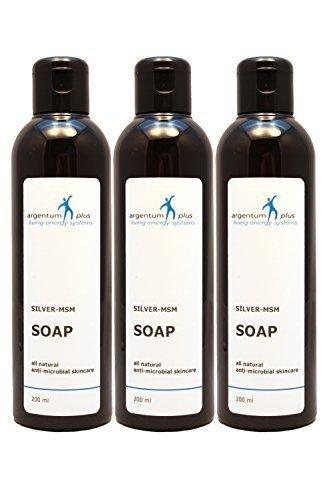 Savon Liquide Argent-MSM - Contenance : 3 x 200 ml.