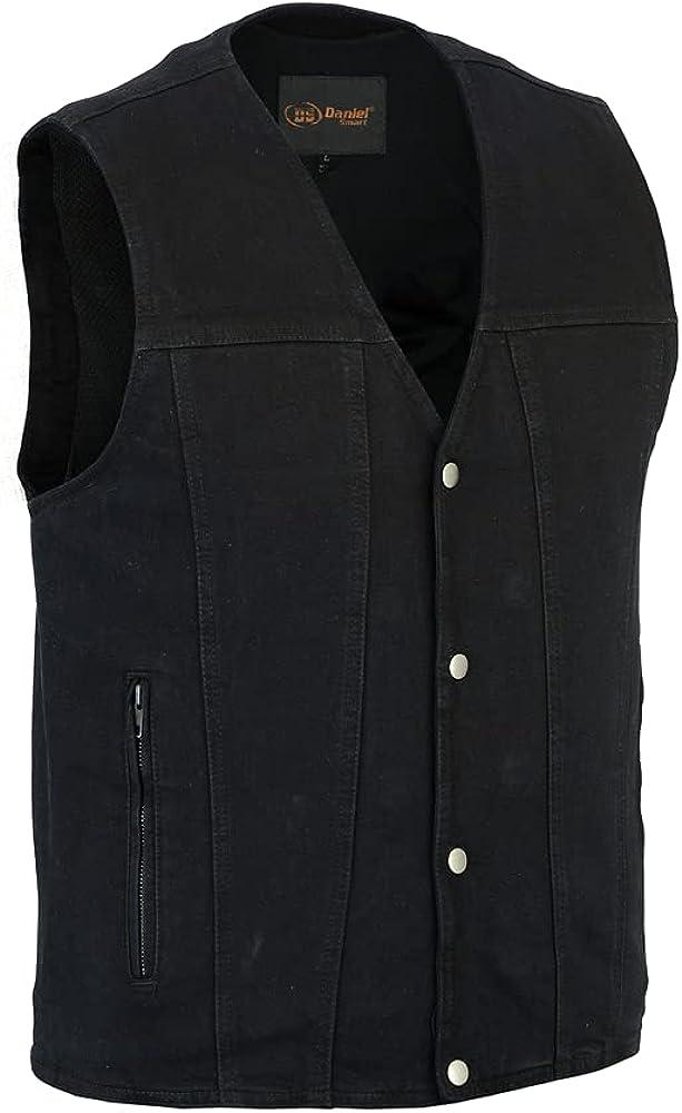 Daniel Smart Men's Single Back Panel Concealed Carry Denim Vest