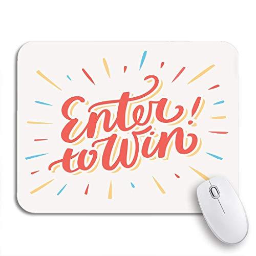 Gaming Mouse Pad Contest Geben Sie ein, um die Chance zu gewinnen Gewinnspiel Word Lucky Play Rutschfeste Gummiunterlage Computer Mousepad für Notebooks Mausmatten