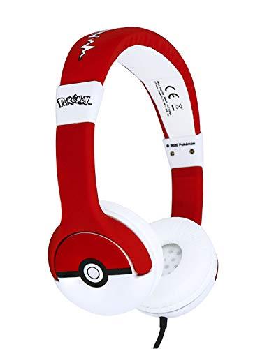OTL Technologies- Auriculares para niños con Cable Rojo Pokeball...