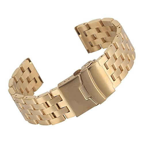 XIAOFANG 20/22 mm Plata/Negro/Dorado/Oro de Rosa Sólido Reloj de Acero Inoxidable Reloj Reloj de Acero Correa de Acero Cierre Plegable con Seguridad Nuevo 2019