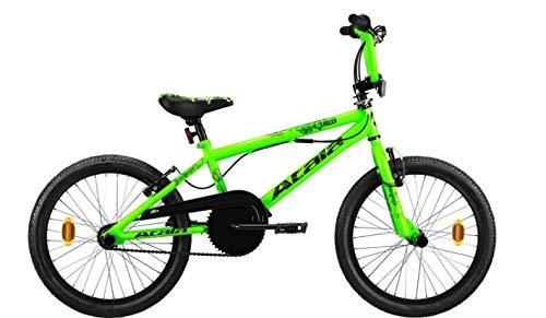 NUOVA BICICLETTA bici ATALA - KIDS BMX bambino - CRIME VERDE NEON - NERO