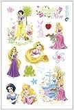 Pegatinas de princesa de dibujo animado de princesa blanca, nieve, princesa aurora, princesa rapunzel, decoración de pared, habitación de juegos y niños