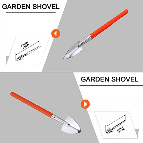COLMAX 13PCS Mixed General GARDEN Tool Kit, Portable DIY Tool Set, with Plastic Tool box Storage Case, Gardening Gloves/Digging Claw Tools/Planting Tools/Rake/Shovel/Trowel/Sprayer