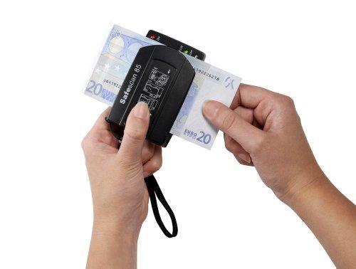 Safescan 85 - Détecteur portable automatique de faux billets pour la vérification des billets en euros et en livres sterling
