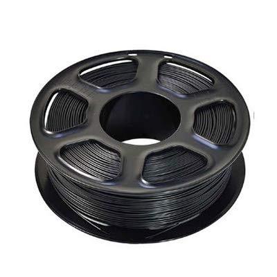 3D-Drucker Glühfaden PETG 1,75 mm 1 kg / 2,2 lbs Kunststoff PETG Filament-Verbrauchsmaterial PETG-Material for 3D-Drucker Filamento 3D Pen Filament Refills (Color : Black)