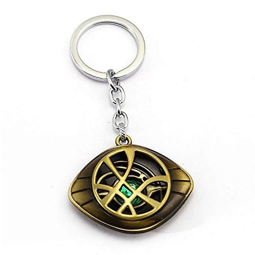 MayDee Doctor Strange Schlüsselanhänger Crystal Eye of Agamotto Anhänger Mode Schlüsselanhänger