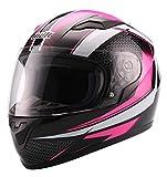 UNIK Cn-04 Kids Full Face Integral Helmet, Colour Casco, Infantil, Beep Rosa/Negro/Blanco, S