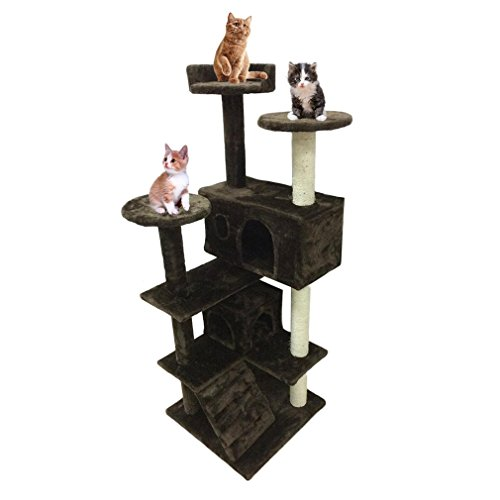 Homgrace Árbol para Gatos Juguete Rascador para Que los Gatos para Relajarse,...
