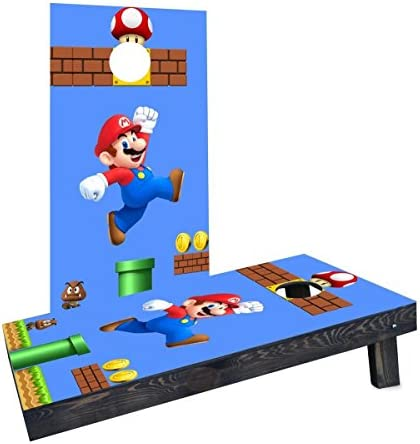 Custom Cornhole Boards CCB1483 2x4 C Super Mario Brother Mario Cornhole Boards product image