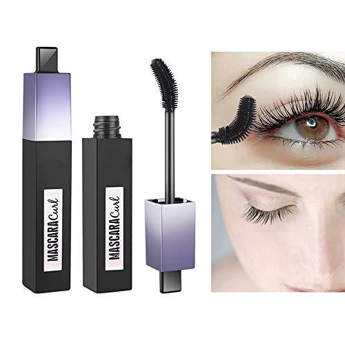 4D Silk Fibre Lash Mascara, AIDUE Waterproof Eyelash Extension Mascara Extra Long Lash Mascara met 360 Graden Flexibele Borstel, Langdurige Curling Natuurlijke Oogmake-up