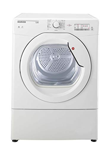 Hoover DX C9TCE Freestanding Condenser Tumble dryer with Aquavison 9Kg Load NFC Connected White