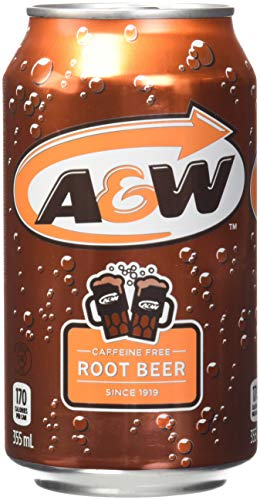 A & W Root Beer Cans 355ml (Pack of 12)