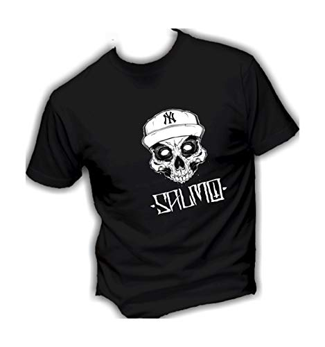 ITALY Damen Shirt Print LOVE Basic T-Shirt Weiß Schwarz 40//42 NEU