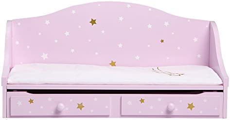 Olivia s Little World 18 Doll Wooden Furniture Twinkle Stars Doll Trundle Bed fits American product image