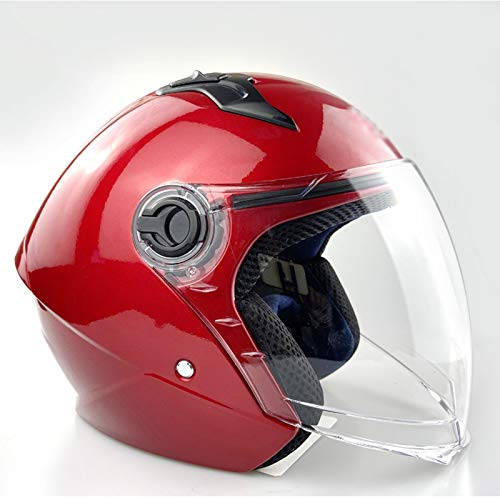 Foot Care Helmet Motorbike Helmet Jet Helmet Approved ECE/D.O.T Certified with Visor Retro Open Face Motorcycle Helmet Male and Female Adult Motorcycle Half Helmet A, XL(61~62cm)
