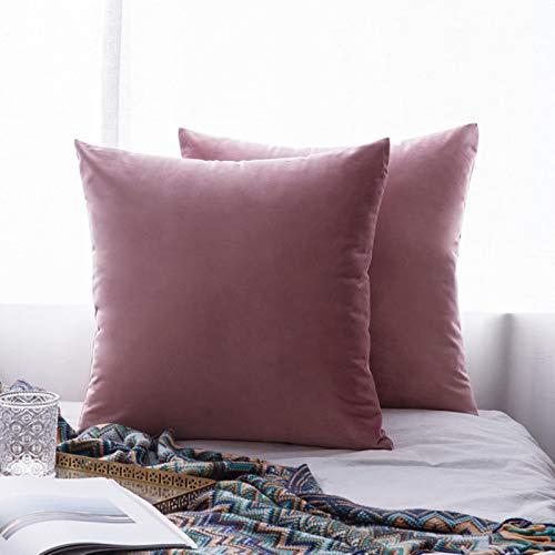 Miwaimao 26Colors almohada buque terciopelo funda de asiento de la sala de estar sofá almohadilla conjunto de color sólido funda de almohada almohada almohada car-450mm*450mm, 6