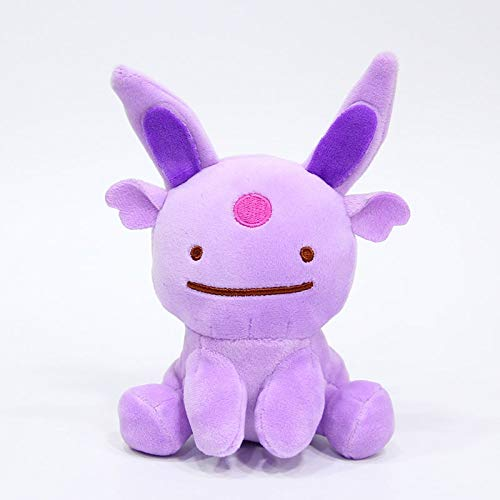 FENGHE Pokemon 2 Stück / Los 25 cm + Ditto Kissen Kissen Verwandeln Sich In Pokemon Bulbasaur Gengar Eevee Gefüllte Plüsch Wendepuppen Spielzeug Geschenk Sa1666b