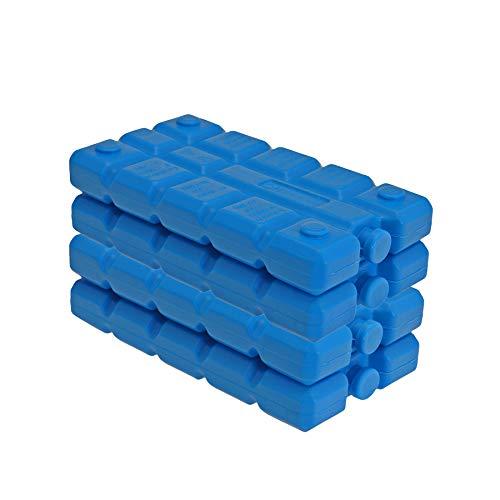 BigDean 4er Set Kühlakkus - 200 ml - Kühlleistung über 6 Std. - Made in Europe - kleine Kühl Akkus für Kühltasche & Kühlbox - Blaue Kühlpacks Kühlelemente