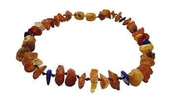 Amberdog 00508-S Collier d'ambre pour chien en lapis-lazuli