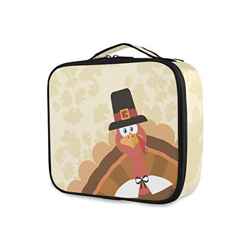 Outils Cosmétique Train Case Voyage Maquillage Sac Portable Stockage Vintage Joyeux Thanksgiving Jour Automne Turquie Boîte Trousse De Toilette
