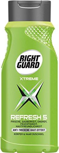 Right Guard Refresh 5 Duschgel, 3er Pack (3 x 250 ml)