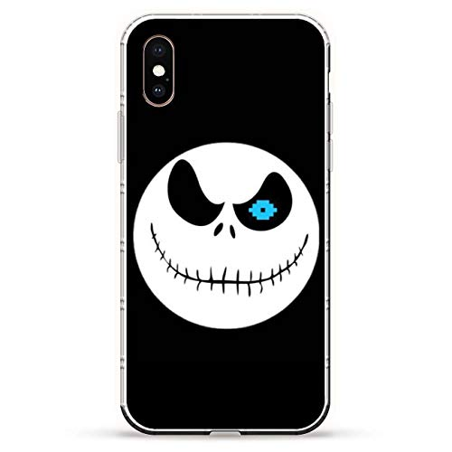 X-Art Transparent Fundas Slim Liquid Flexible Case Back Cover for Apple iPhone XS-Christmas-Nightmare Jack-Skellington 5