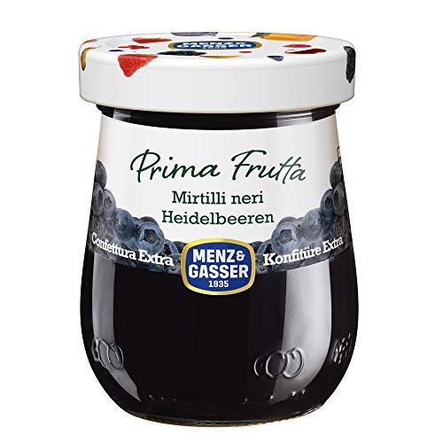 Menz&Gasser Confettura Extra di Mirtilli Neri Prima Frutta - Confettura con Frutta di Alta Qualità, 1 Vaso x 340 g