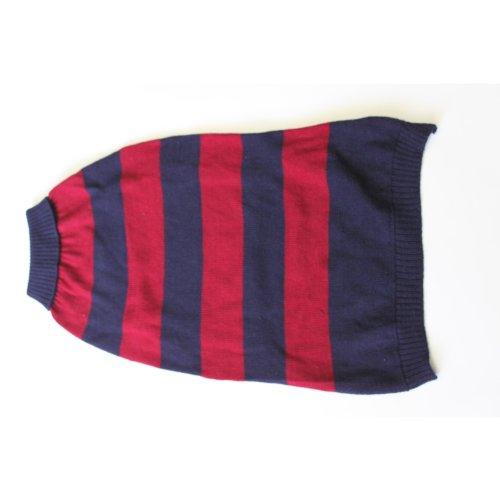 ABO Gear Hundepullover, Rugby-Look, Größe M/L, 45,7 cm, Marineblau/Burgunderrot