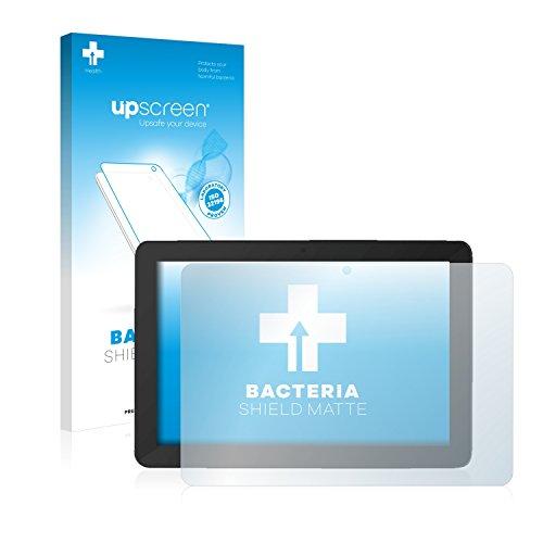 upscreen Antibakterielle Entspiegelungs-Schutzfolie kompatibel mit TrekStor SurfTab Breeze 10.1 Quad Plus - Anti-Reflex Bildschirmschutzfolie matt