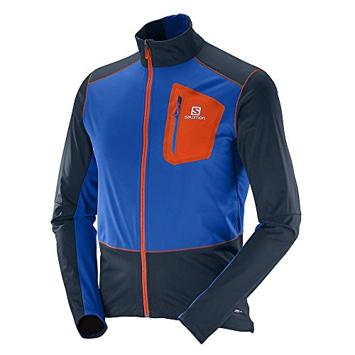 SALOMON Equipe Softshell-Jacke JKT M Bl - Jacke für Herren, Farbe Blau, Größe M