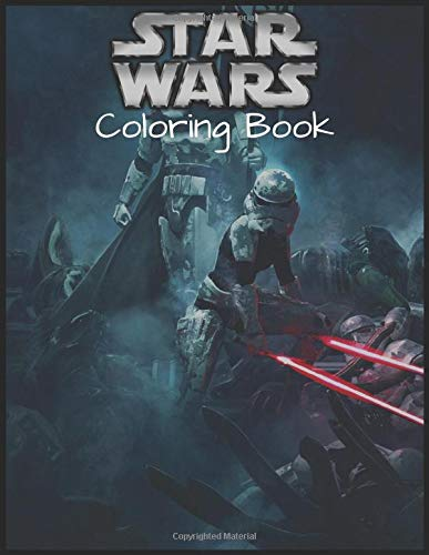 """Star Wars Coloring Book: Star Wars Book, Coloring Book 8.5""""x11"""" With High Quality Paper"""