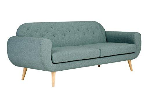 massivum Sofa Retro 220x85x85 cm Flachgewebe-Stoff blau