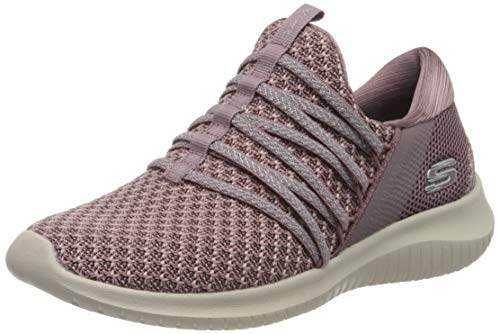 Skechers Women's Ultra Flex-Bright Future Trainers, Purple (Mauve Mve), 5 UK 38 EU
