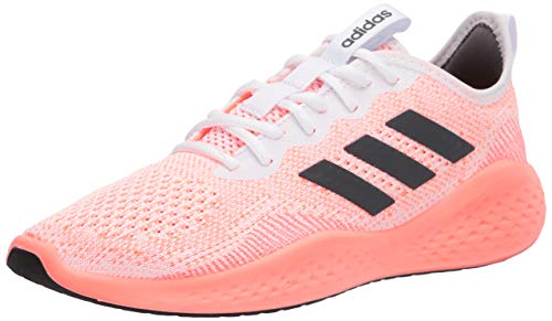 adidas Women's Fluidflow Sneaker, FTWR White/Grey Six/Signal Coral, 10 M US