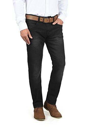 Indicode Quebec Herren Jeans Hose Denim Aus Stretch-Material Regular Fit, Größe:W34/34, Farbe:Black (999)