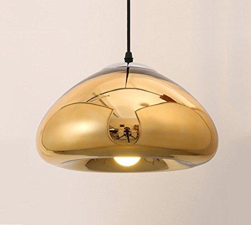 William 337 Lustre en verre minimaliste moderne/Art créatif ronde lampe en verre/Restaurant Bar Lustre de haute qualité Hall d'exposition (Couleur : Or-18cm)