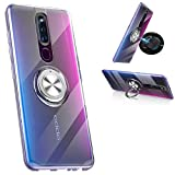 Oppo F11 Pro Clear Case,360° Rotating Ring Kickstand