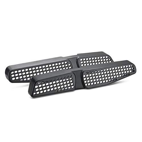 Lfotpp - Rejillas de ventilación de aire acondicionado, para asiento trasero de coche, 2 unidades