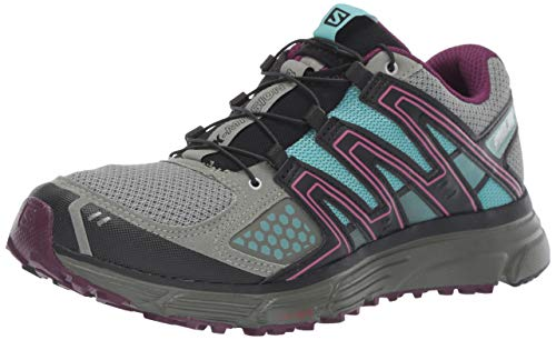 Salomon Women's X-Mission 3 Trail Running Shoes, Shadow/Dark Purple/Nile Blue, 7.5 US