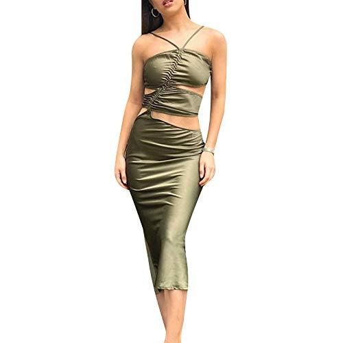 Mini vestido bodycon con correa de espagueti para mujer, bohemio, mini/maxi vestidos Y2K E-Girls una línea de corte vestido de cintura alta floral vestido de verano de la calle