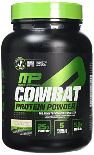 MusclePharm Combat 100 Percent Whey Supplement, 907 g, Cookies 'N' Cream