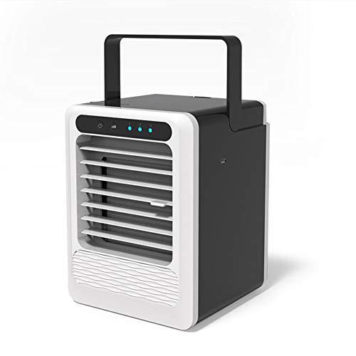 WWDH 3-en-1 Meni Aire Acondicionado,con USB Inicio Pequeño Aire Acondicionado Silencioso,portátil Humectación Purificar Oficena-a 14x14x14cm(6x6x6inch)