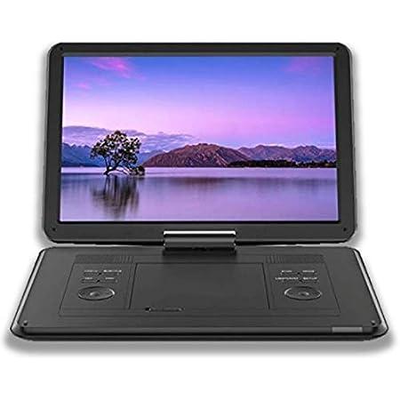 ポータブルDVDプレーヤー 14インチ ワイド液晶 dvdプレーヤー充電バッテリー 車載 シガーソケット 対応 コンセント 付属 CPRM/SD/AV/USB 対応 270度回転 車載DVDプレーヤー リモコン付属 日本語説明書 付き DVP-14HD