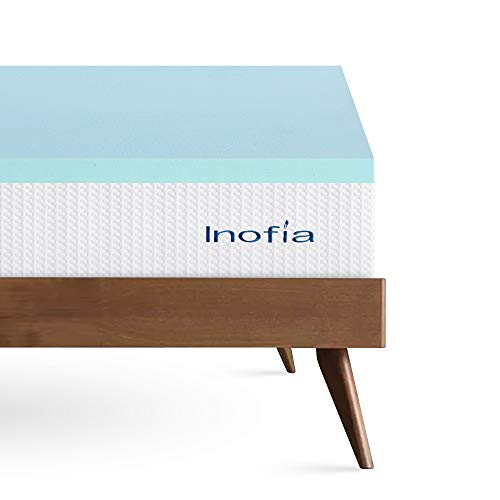 Inofia Mattress Topper, Gel Memory Foam Mattress Topper - Keep Cooling, 5CM Bed Topper Extra Thickness, Smart Temperature GELEX Topper for Restful Sleep,100-Night Home Trial (140X200cm)