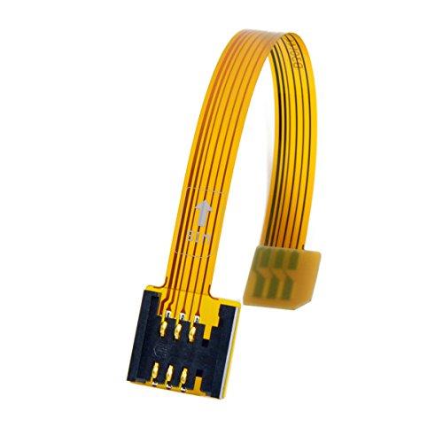 Cablecc 3G 4G Micro SIM Card Kit da Maschio a Femmina Uim SIM Standard Soft Piatto FPC Cavo 10cm