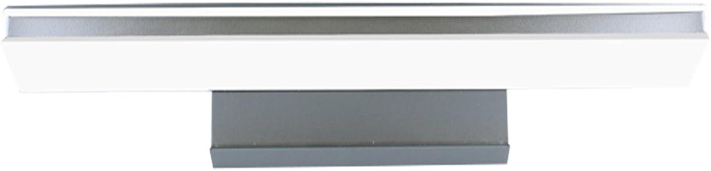 DFHHG  LED-Spiegel-Frontleuchte, wasserdicht Anti-Fog moderne minimalistische Badezimmer Badezimmer Lampe im europischen Stil Make-up-Lampe Wandleuchte (Farbe   Silber-Long50cm)