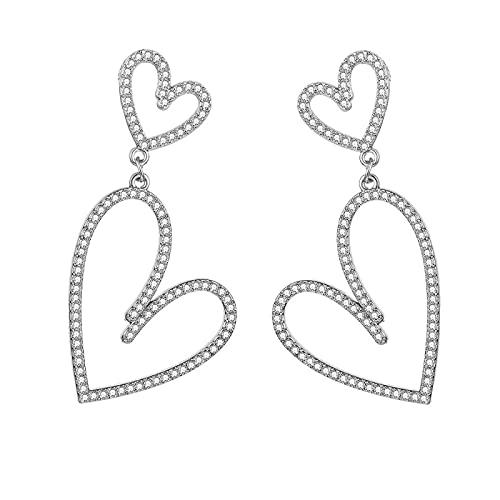 FEARRIN Pendientes Vintage Bohemain Pendientes Colgantes geométricos de Cadena de Moda para Mujer Pendientes de Boda con Encanto de Gota Joyería Femenina LNI078-02