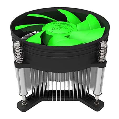 Ventilador de CPU de Tubo de Calor TX-910 para Ventilador de radiador de CPU de computadora portátil LGAI3 I5 1155 1156 AMD Negro + Verde