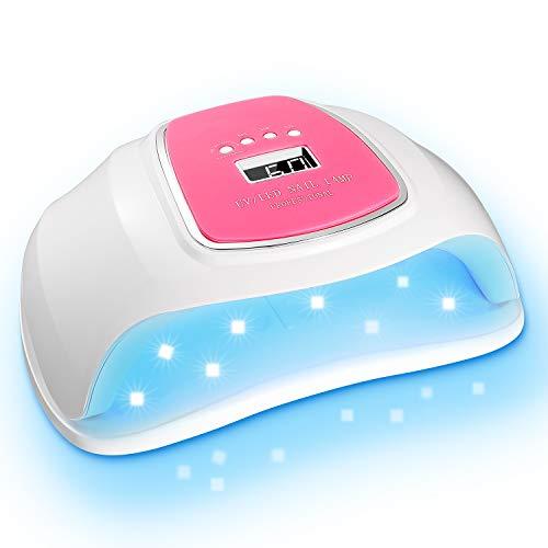 UV Led Nail Lamp, Nail Dryer 72W Gel Nail Polish LED UV Light with 4 Timers Settings Sensor Nail Curing Lamp